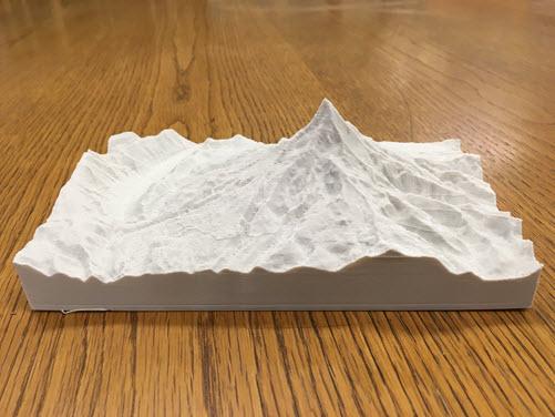 Photo of 3D printed Mount Hood