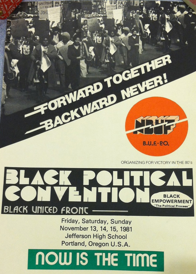Avel Gordly Poster Black United Front Convention -- Instagram 04-24-2015