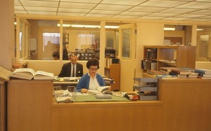 Science Librarian Jolene Kuhns at the third-floor reference desk