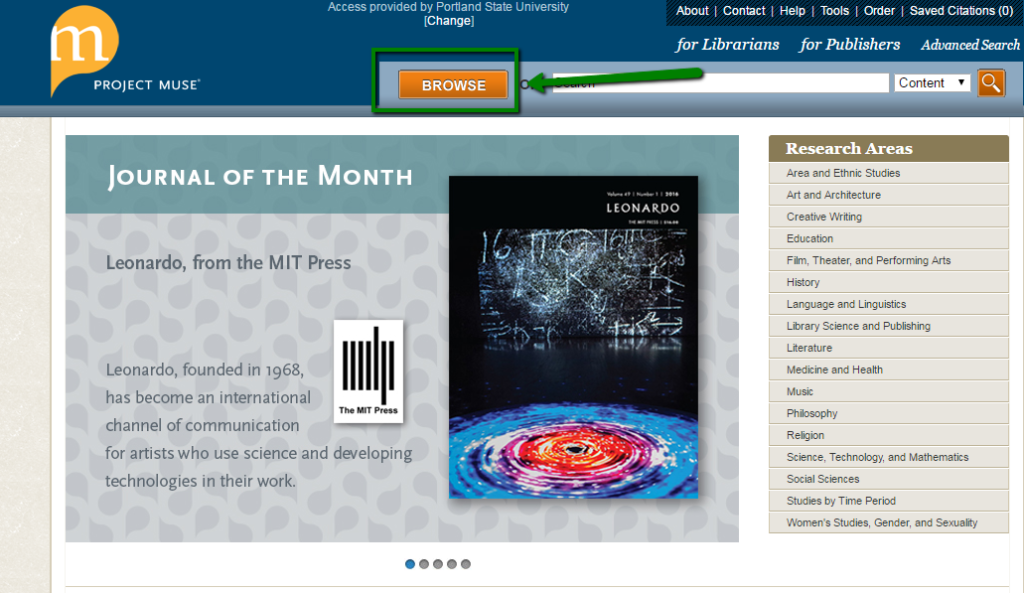 Project Muse Ebooks At Psu Library Portland State University Library