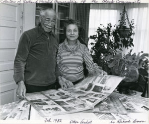 Otto and Verdell Rutherford photographed at their home by Richard Brown in 1982
