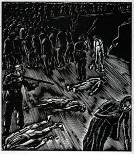 illustration of concentration camp