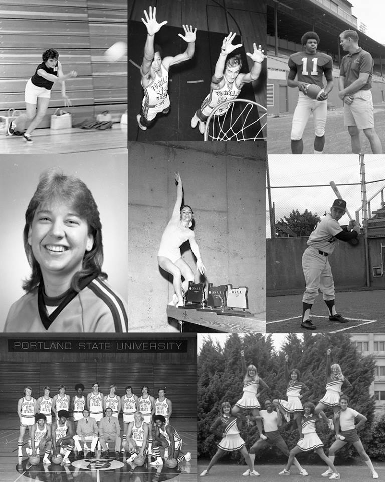 Collage of athletes