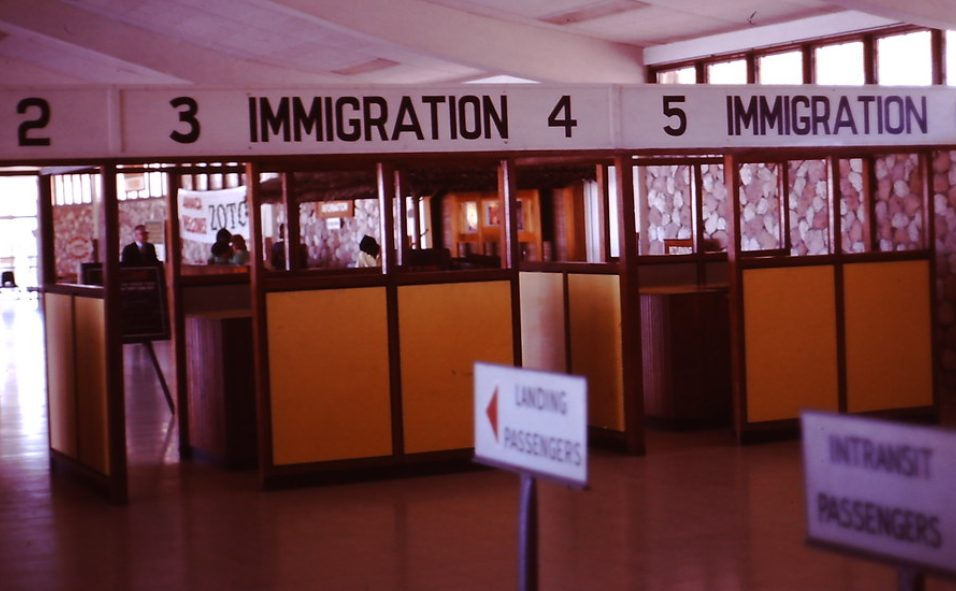 Jamaica airport immigration 1971