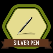 The Silver Pen Badge