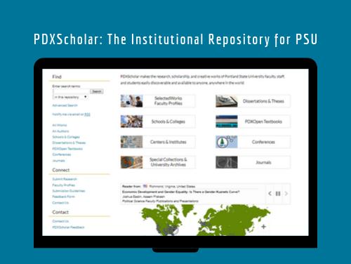 Screenshot of PDXScholar Website