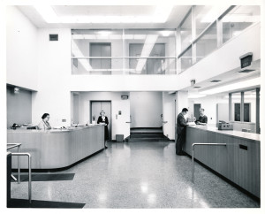 The new lobby of the Portland State College Library in 1960.