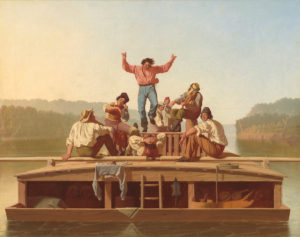 The Jolly Flatboatmen by George Caleb Bingham, 1846. From the National Gallery of Art.