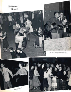 Dance photos from the 1958 Viking.