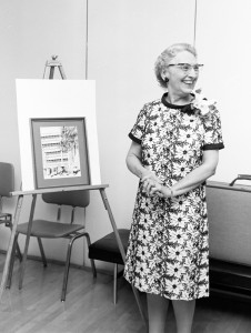 At her retirement in 1969.