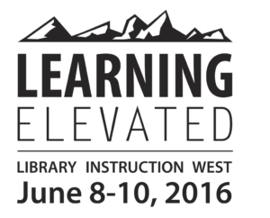 Logo for Library Instruction West 2016