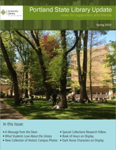 Cover of Spring 2015 Library Newsletter