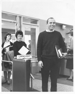 One millionth library patron in 1962