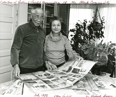 Otto & Verdell Rutherford in 1982. Photo by Richard Brown.