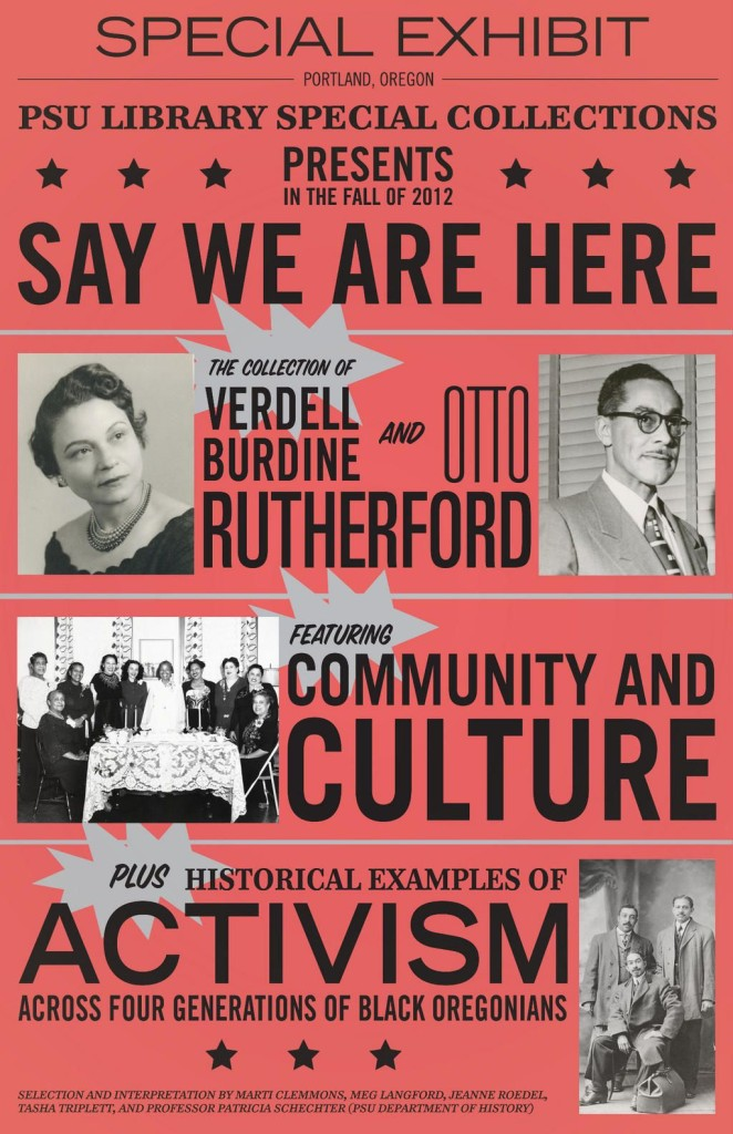 Say We Are Here exhibit poster