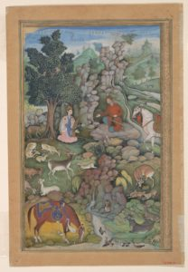 Folio from an illustrated manuscript ca. 1597-1598. Image from The Met Museum.