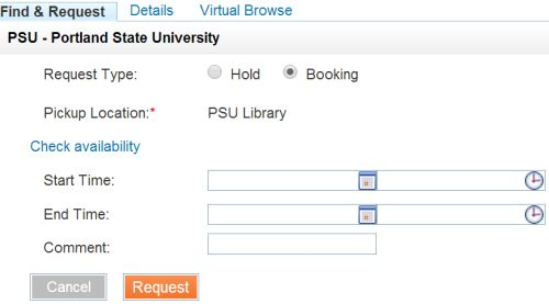 Video Booking Option