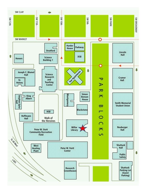 Maps directions portland state university library sciox Choice Image