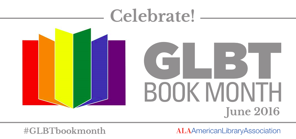 GLBT Book Month logo