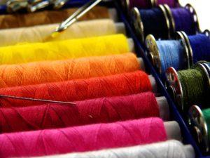 multicolored spooled thread lot